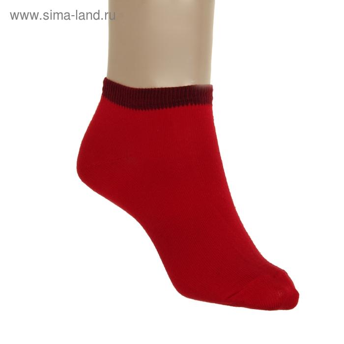 Носки женские, размер 23-25, цвет красный НЖ8