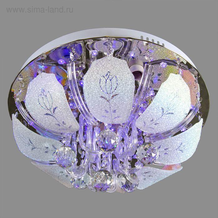 """Люстра """"Тюльпаны"""" с диодами и дист. пультом, d=40 см, 4 лампы"""