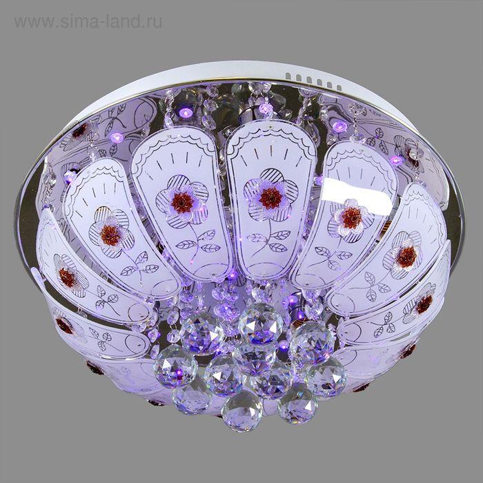 """Люстра """"Цветочный эскиз"""" с диодами и дист. пультом, d=45 см, 5 ламп (220V 15W E27)"""