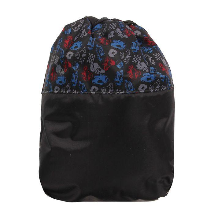 Сумка для обуви, цвет чёрный/синий