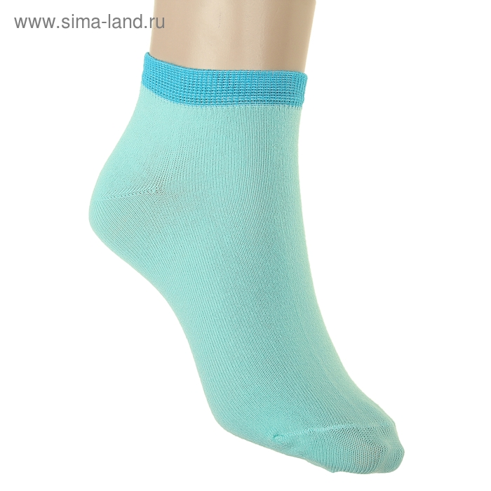 Носки женские, размер 23-25, цвет светло-бирюзовый НЖ8
