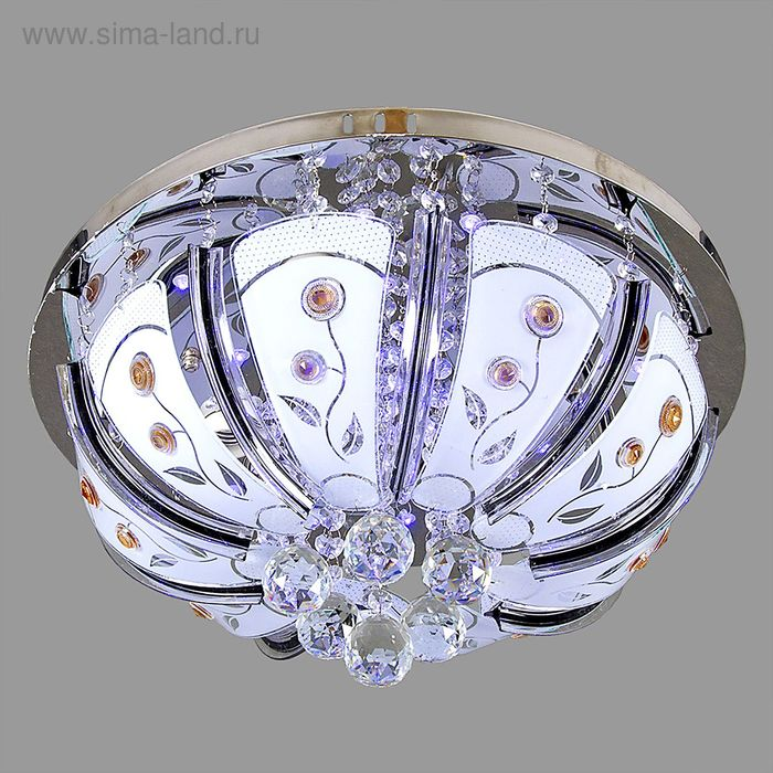 """Люстра """"Аврора"""" с диодами и дист. пультом, d=45 см, 4 лампы (220V 15W E27)"""