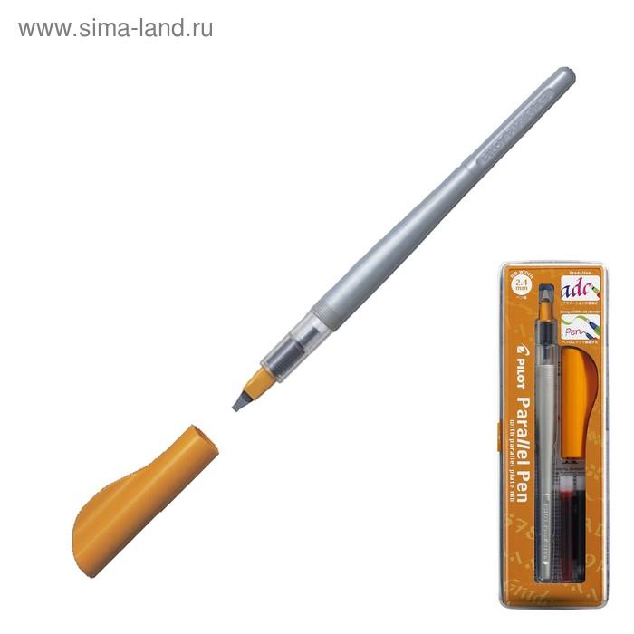 Ручка перьевая для каллиграфии Pilot Parallel Pen 2.4 мм, (картридж IC-P3) набор в футляре FP3-24