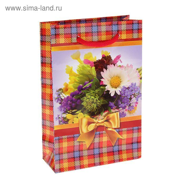 """Пакет подарочный """"Полевые цветы"""" 17,5 х 11,5 х 5 см"""