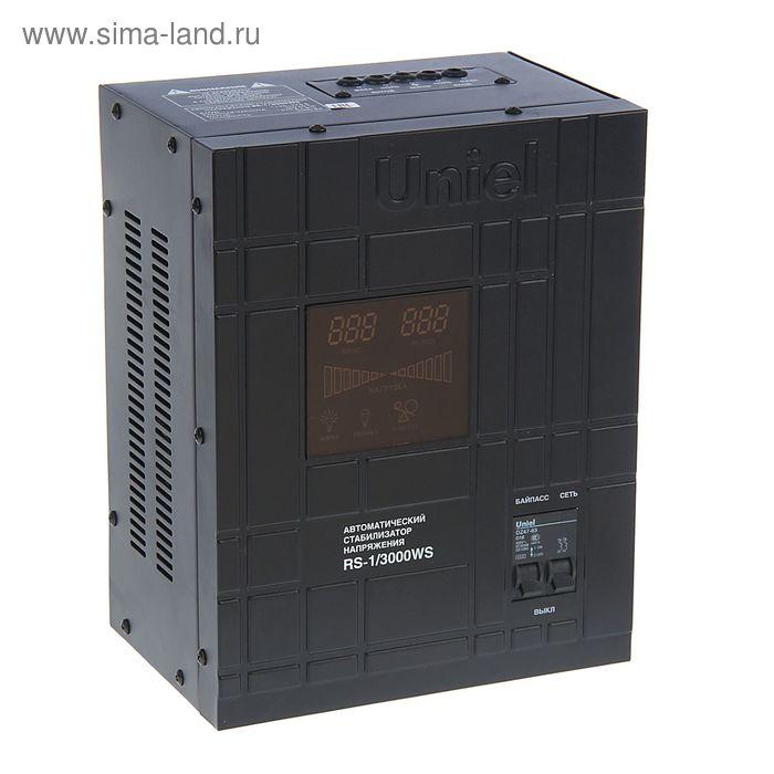Стабилизатор Uniel RS-1/3000WS, релейный, однофазный, настенный, с гальв. развязкой, 3 кВА