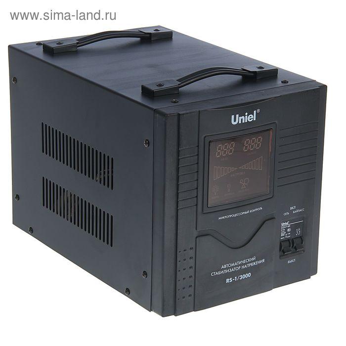 Стабилизатор Uniel RS-1/3000, напольный, релейный, однофазный, 3 кВА