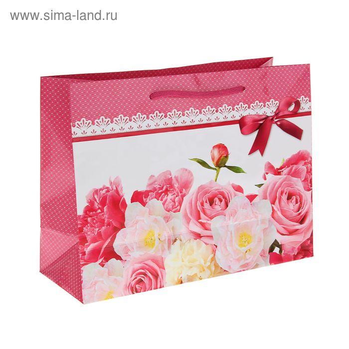 """Пакет подарочный """"Роза ветров"""" 24,5 x 32,5 x 12 см"""