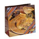 """Пакет подарочный """"Талер"""" 16 х 16 х 7,6 см"""