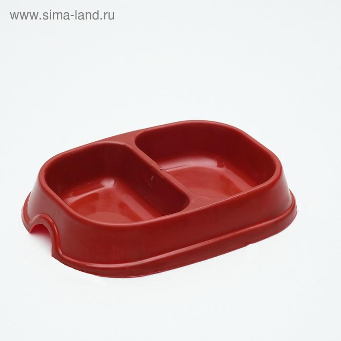 Миска 2 х 200 мл, красная