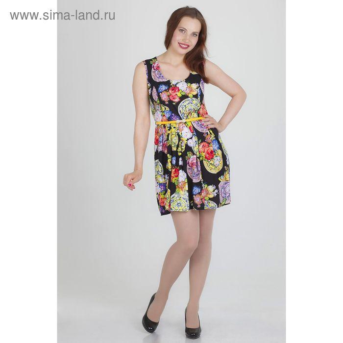 Платье женское, размер 48, рост 168, цвет черный (арт.17139)