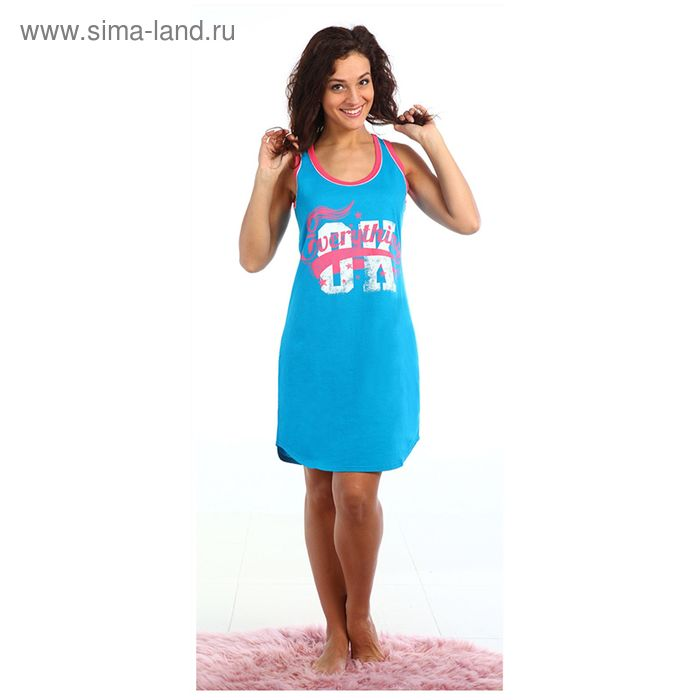 Платье женское Космо цвет голубой, р-р 44