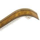 """Карниз 200 см """"Ультракомпакт. Меандр. Золото"""", 3-рядный, с декоративной планкой 7 см, цвет коричневое золото"""