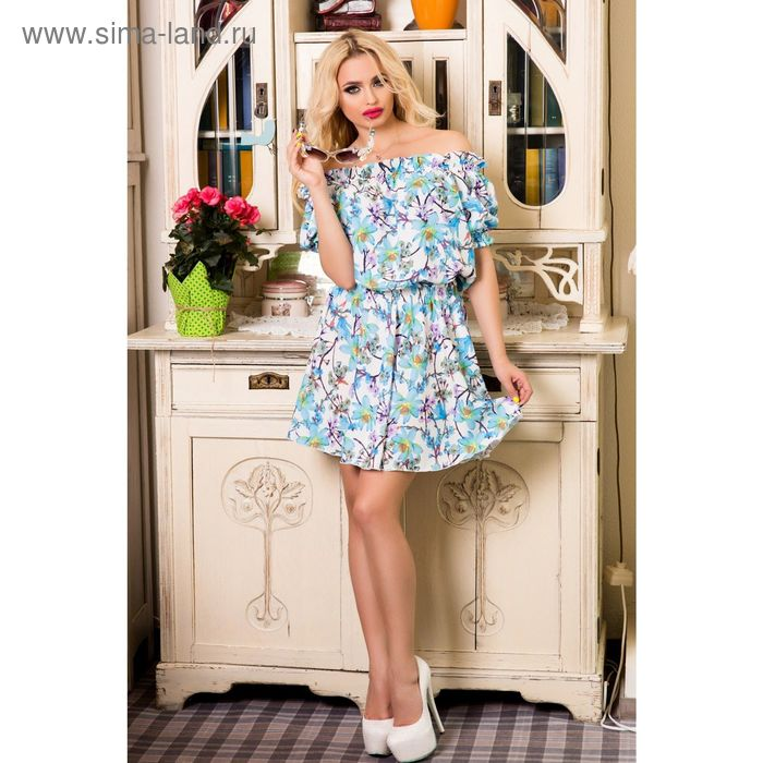 Платье женское SbS 71184, цвет голубой, размерS (42), рост 168 см