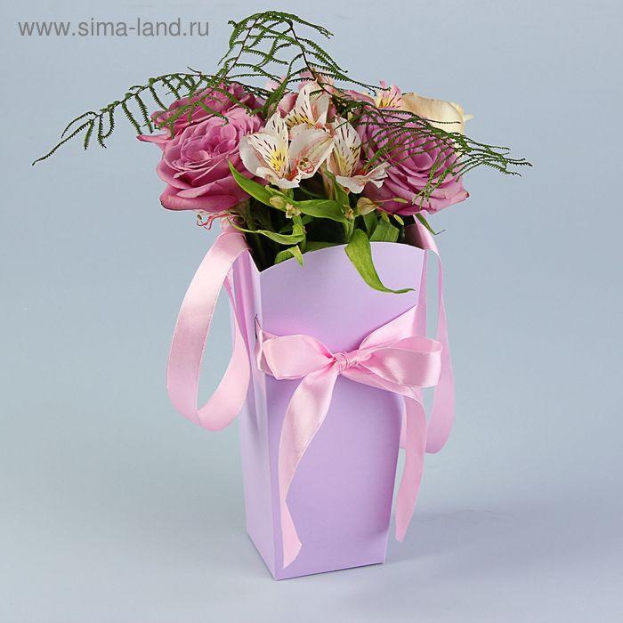 Пакет для цветов ирис, 24х12х10 см