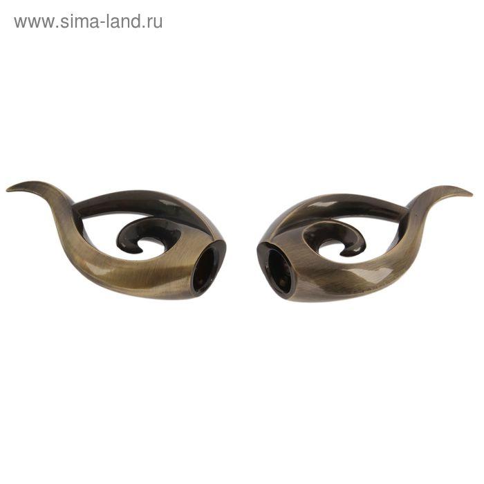"""Наконечник """"ЛЕВША НАУТИЛУС"""" старое золото d 16 мм (2 шт)"""
