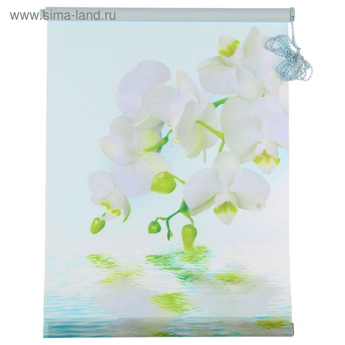 """Ролет-штора 50х160 см """"Орхидея"""", цвет голубой"""