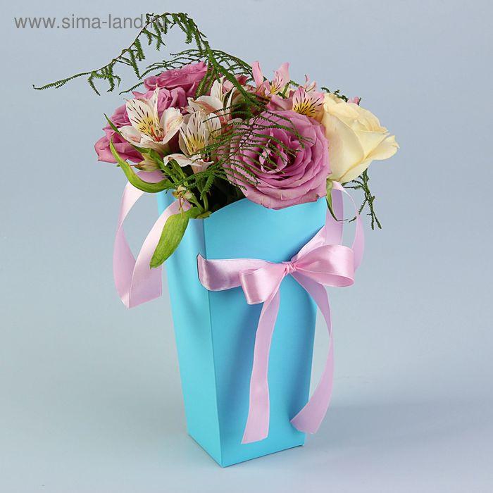 Пакет для цветов мятный, 24х12х10 см
