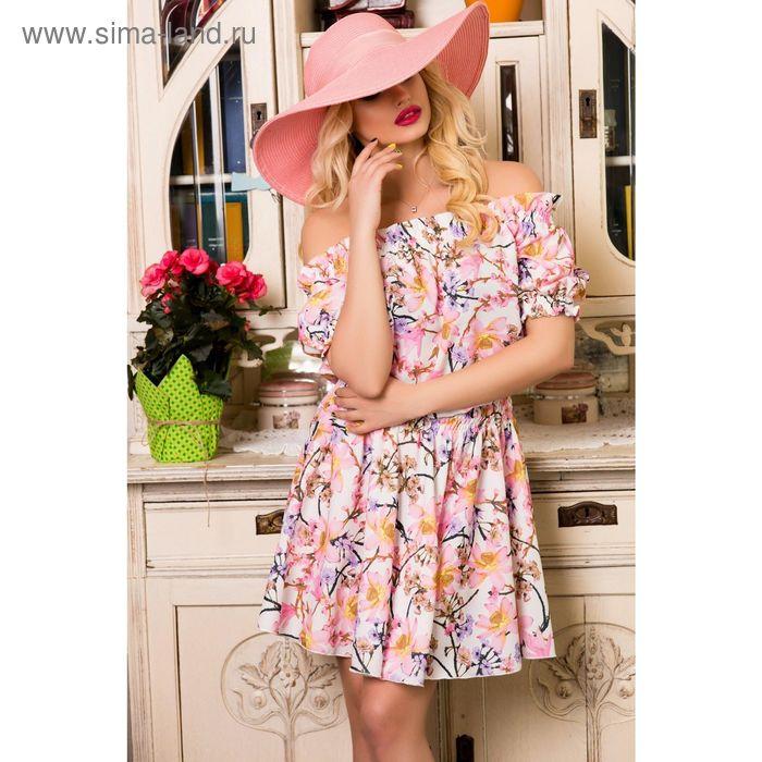 Платье женское SbS 71184, цвет розовый, размерM (44), рост 168 см