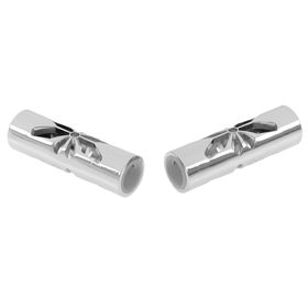 Наконечник 'ЛЕВША БАБОЧКА' серебро глянец d 16 мм (2 шт) Ош