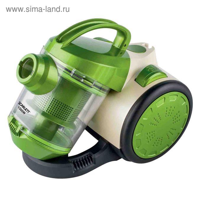 Пылесос Scarlett SC VC80C01, 1500 Вт, 1.5 л, зеленый