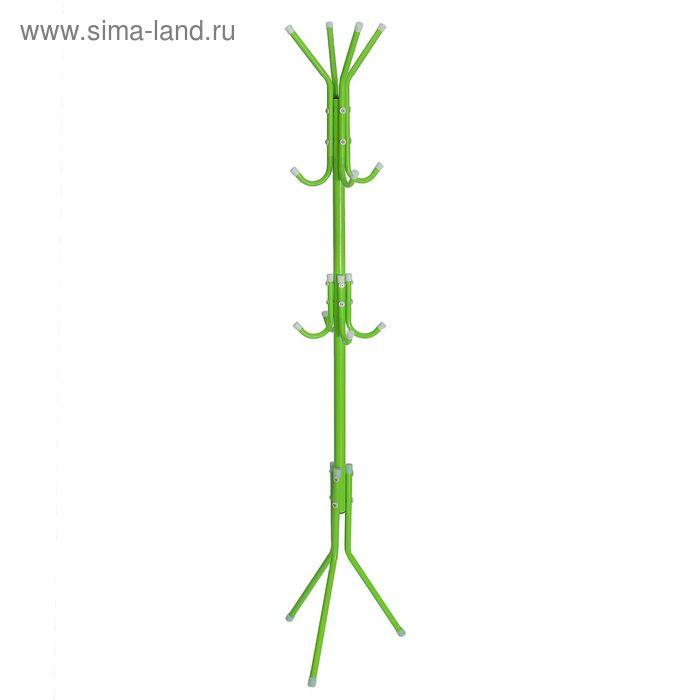 """Вешалка-стойка 177 см """"Корона"""", цвет зелёный"""