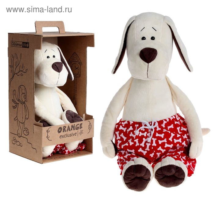 Мягкая игрушка «Пёс Барбоська в трусах»