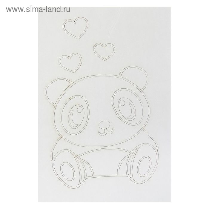 "Трафарет-открытка ""Панда "" А5"