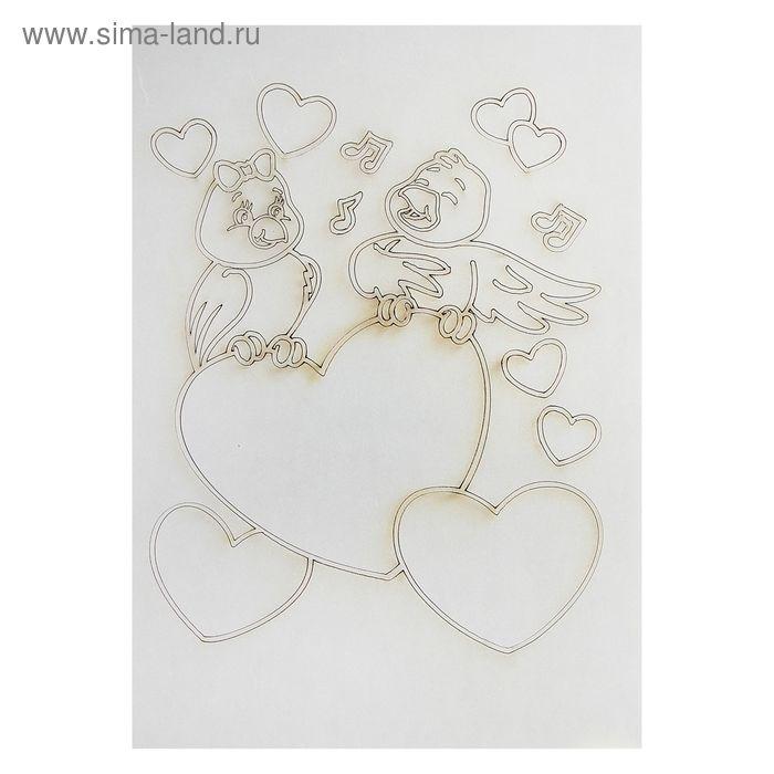 "Трафарет-открытка ""Сердечки"" А5"