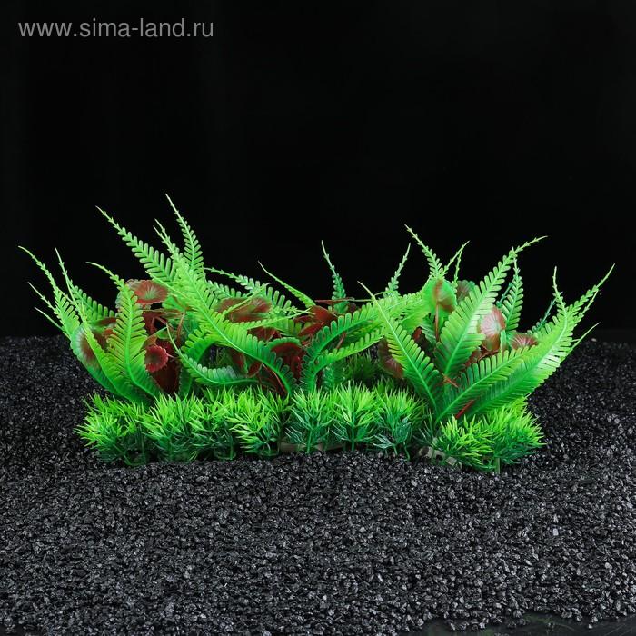 Островок с растениями искусственными для аквариума, 35 х 12 х 15 см