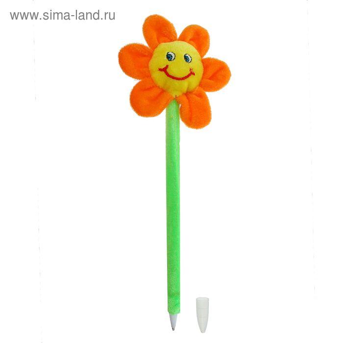 """Мягкая ручка """"Цветочек с улыбкой"""", цвета МИКС"""
