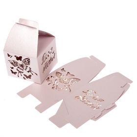 """Коробка складная бонбоньерка """"Бабочки"""", 7 х 7 х 10 см"""