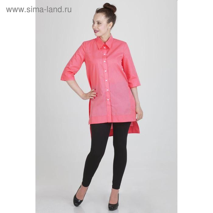 Блуза женская 17247 С+, размер 50, рост 168, цвет коралловый цвет