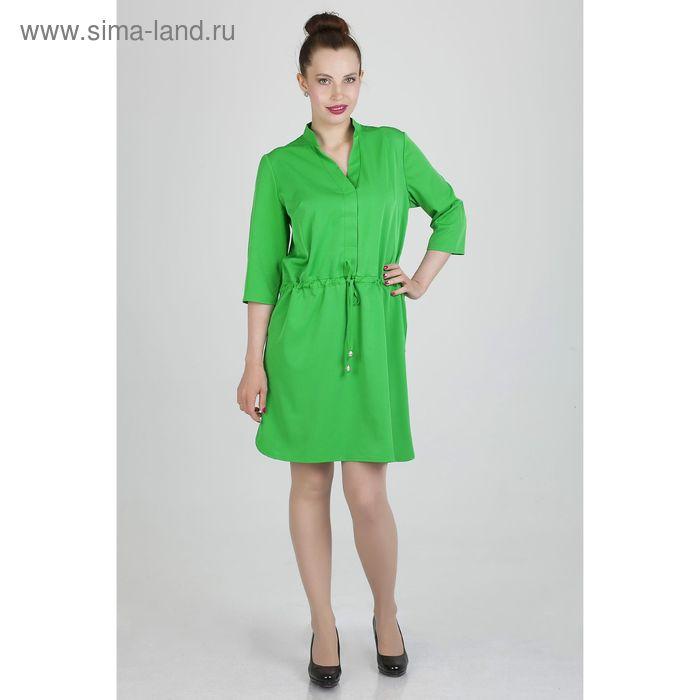 Платье женское, размер 46, рост 168, цвет зеленый (арт. 17248)