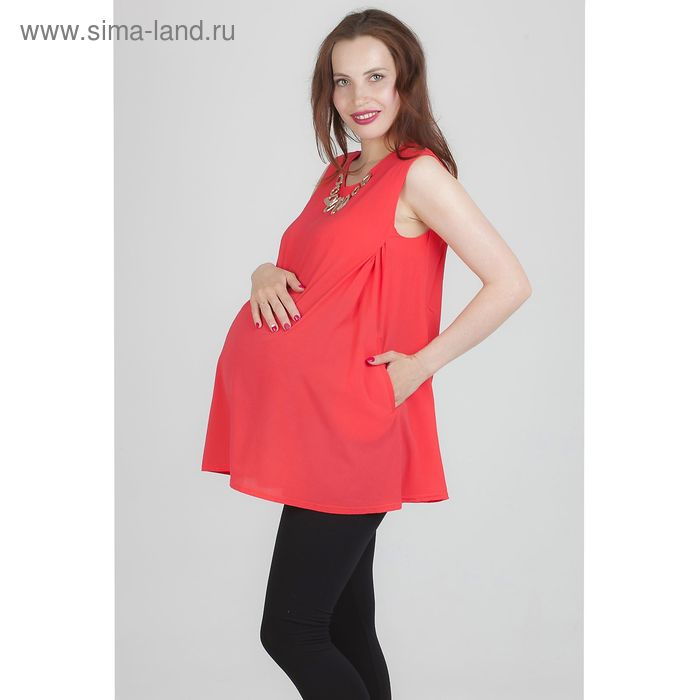 Блузка для беременных 2238, размер 48, рост 170, цвет коралл