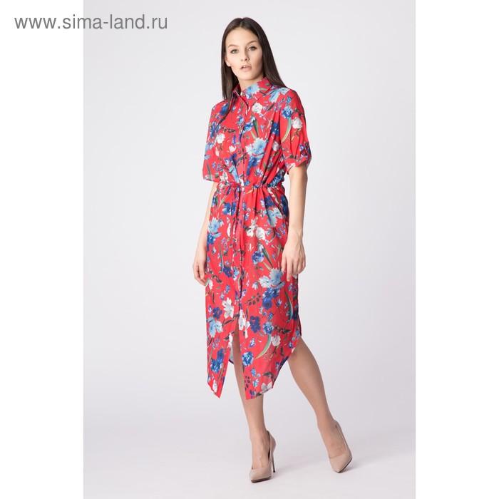 Платье женское, размер 48, рост 168, цвет арбуз (арт. 17252)