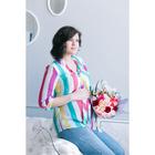 Блузка для беременных 2207, цвет в полоску, размер 44, рост 170
