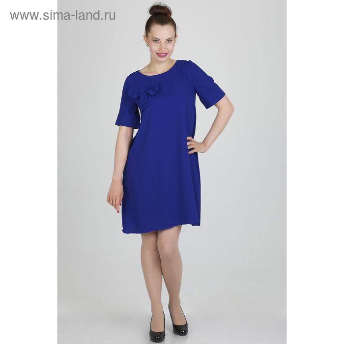 Платье женское, размер 50, рост 168, цвет темно-синий (арт. 15203 С+)