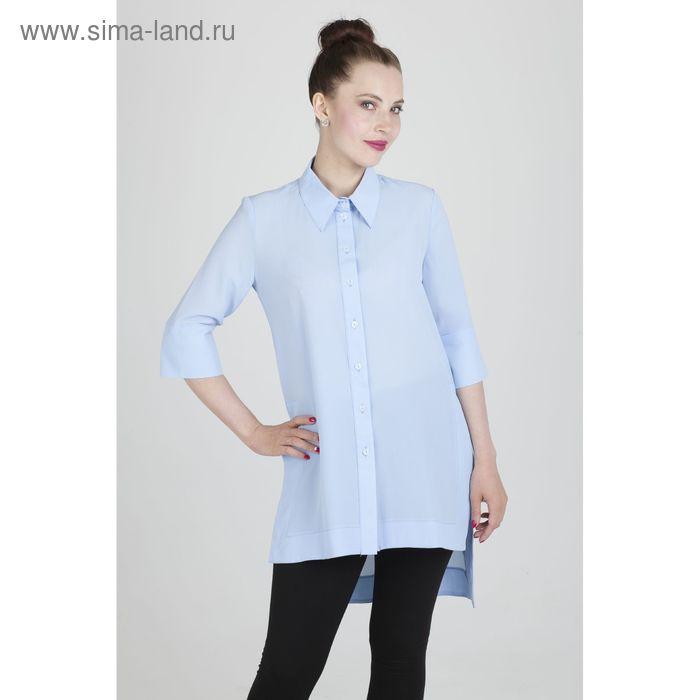 Платье женское, размер 54, рост 168,цвет голубой х/б (арт.17247 С+)