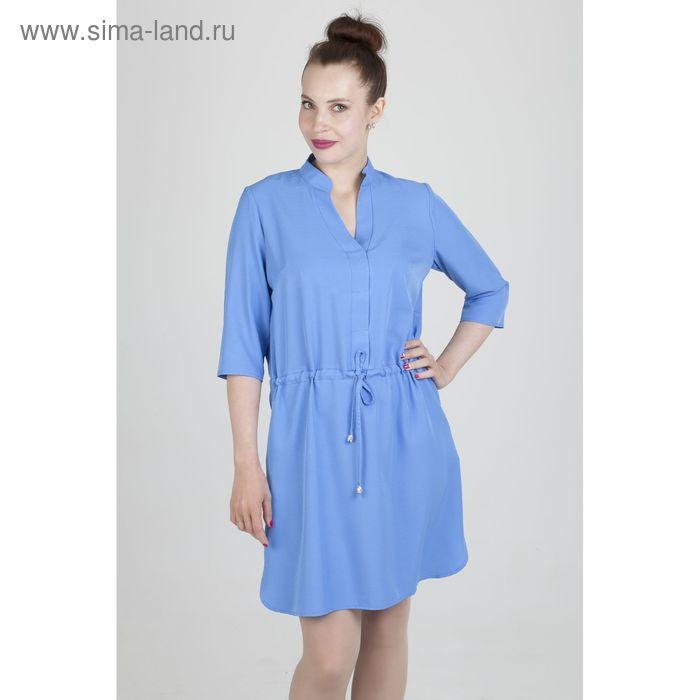 Платье женское, размер 52, рост 168, цвет голубой (арт. 17248 С+)