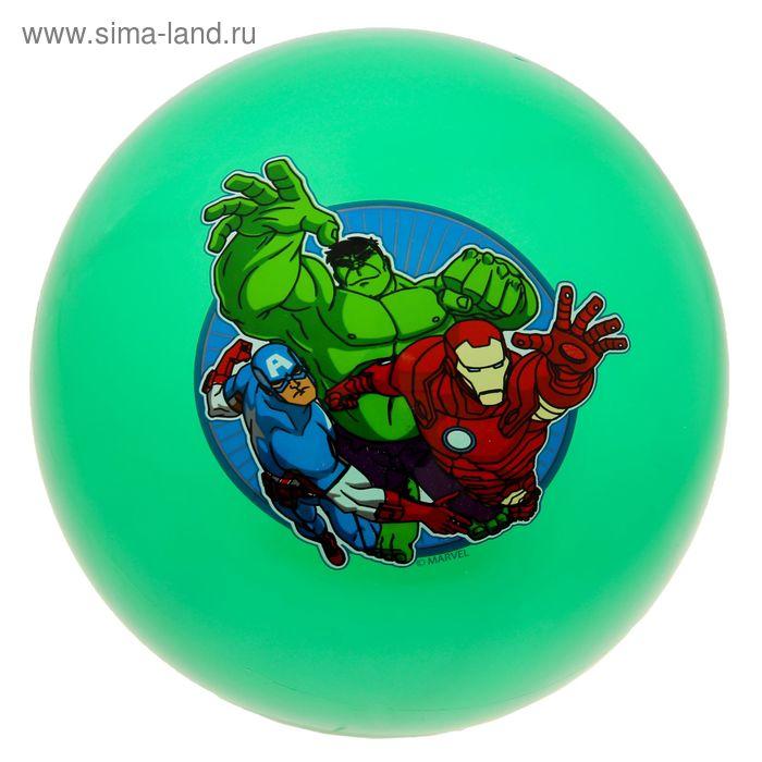 """Мяч """"Мстители"""" 23см, цвет МИКС со стикером в сетке AD-9(AVG)"""