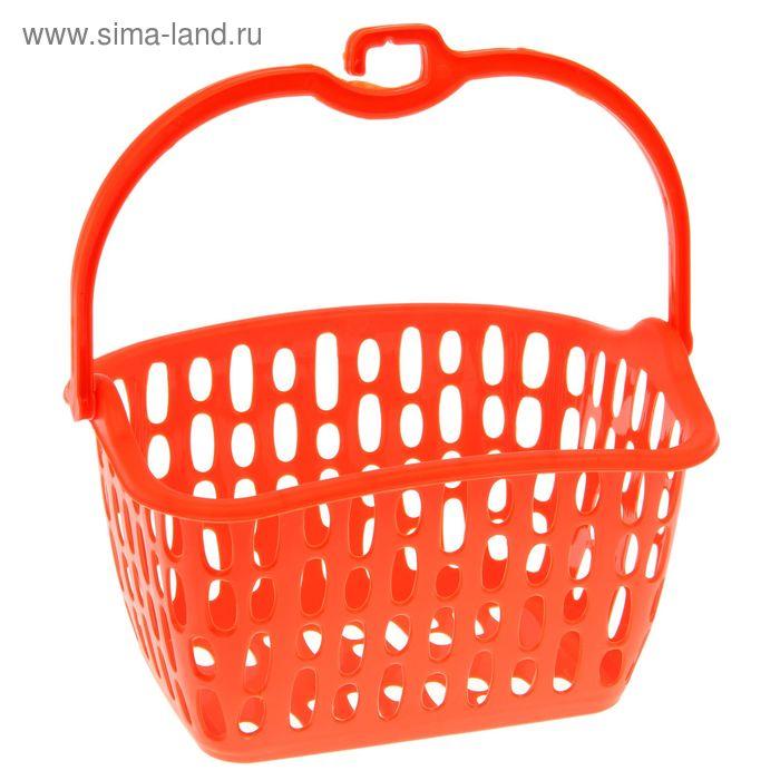Корзина прямоугольная с ручкой оранжевый