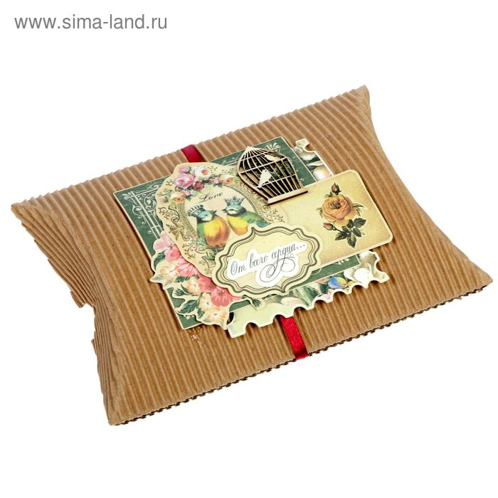"Набор для создания коробки-подушки ""От всего сердца"", 14 х19 см"