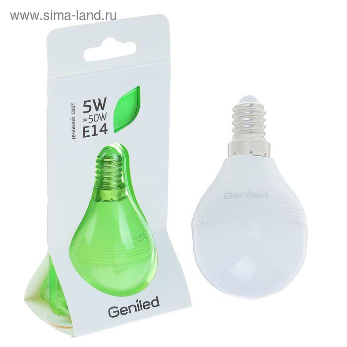 Лампа светодиодная Geniled, E14, G45, 5 Вт, 4200 К, матовая  дневной свет
