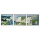 """Модульная картина в раме """"Радуга и водопады"""", 3 шт. — 33×38 см, 38×99 см"""