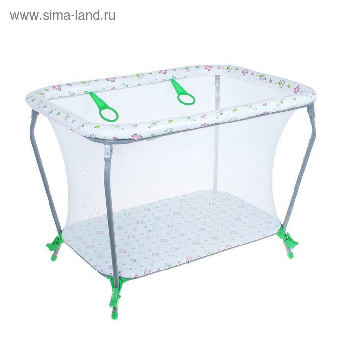 Манеж детский «Фея Классика Экстра», цвет зелёный