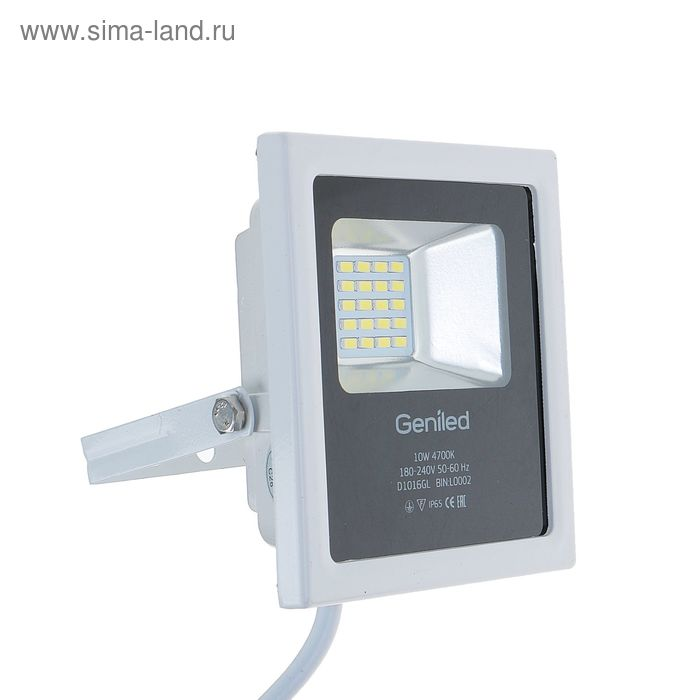 Прожектор светодиодный Geniled СДП-10, 10 Вт, 180-240В, 135х120х40 мм, 4700 К, 850 Лм, IP65