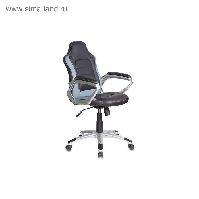 Кресло руководителя CH-825S/Black+Gr черный с серыми вставками, искусственная кожа