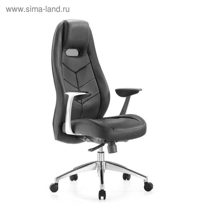 Кресло руководителя _Zen/Black черный, кожа