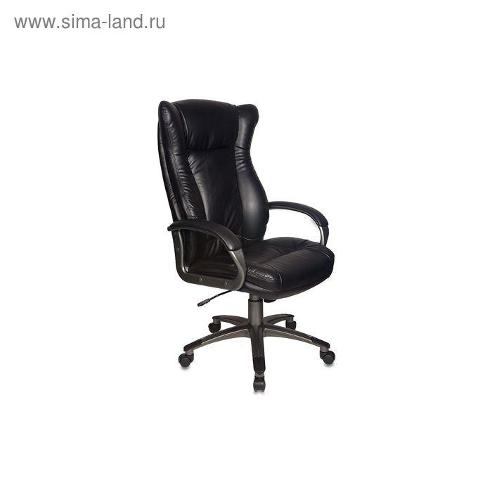Кресло руководителя CH-879DG/Black черный, искусственная кожа