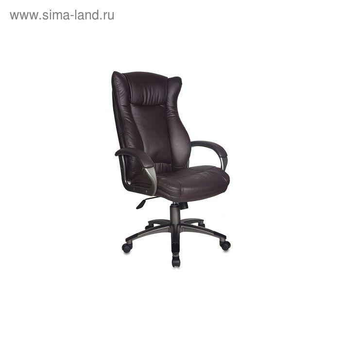 Кресло руководителя CH-879DG/Coffee темно-коричневый, искусственная кожа